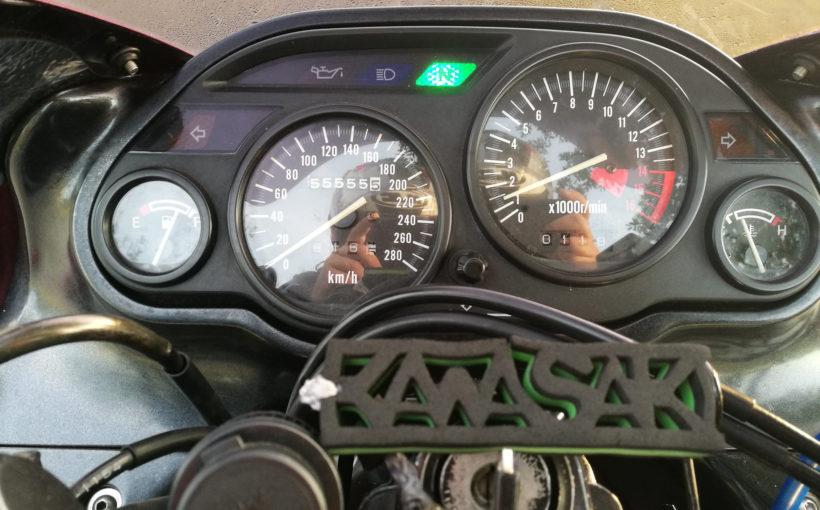 Kawasaki ZZ-R 600 mit 55.555,5 km