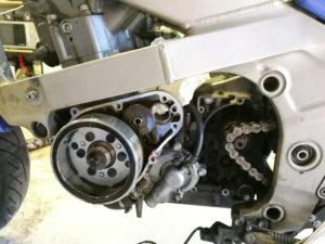 Motor,Lichtmaschine und Anlasser offen