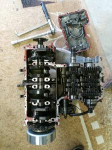 ZZ-R 600 Motor zerlegt