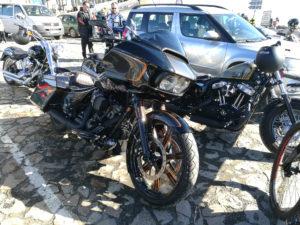 Tour zum Jeschken - fette Harley