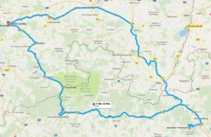 Tour zum Jeschken - Route