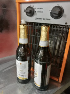 Feierabend-Bierchen im Winter